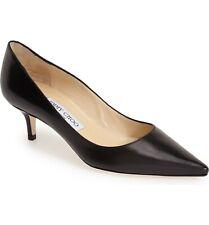 Size 4 / 34 Jimmy Choo Aza Black Leather Pointed Toe