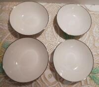 Set of 4 NORITAKE IVORY CHINA White Cereal Soup Bowls Montblanc 7527