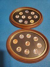 2 (two) DeGrazia Miniature Plates Limited Edition 5000 Porcelain DeGrazia Frame