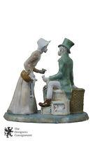 11'' Vintage Ceramic 'Salesman in Love' Figurine Victorian Flower Frog Married