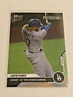2020 Topps Now Baseball Postseason Card - Justin Turner - Los Angeles Dodgers