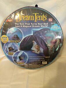 "Dream Tents Twin Pop Up Sleep Tent Twin Beds ""As Seen On TV"" WINTER WONDERLAND"