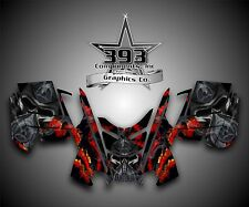 2010 - 2015 POLARIS PRO RMK - RUSH Decal Sticker Wrap Graphics Kit Toxic Red