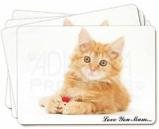 Ginger Kitten 'Love You Mum' Picture Placemats in Gift Box, AC-158lymP