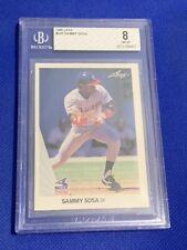 1990 Leaf Sammy Sosa Chicago White Sox RC #220 BGS 8 NM-MT Rookie Card