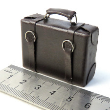 1/6 Scale Soldier Accessories Model Portable File Pack Leather Suitcase