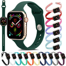 Replacement Slim Silicone Sport Band Strap Replace For Apple Watch 38/42/40/44mm
