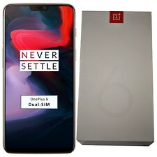 New OnePlus 6 A6003 128GB Dual-SIM Silk White Factory Unlocked 4G/LTE SIM-Free
