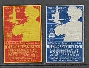 HOTEL  & GASTWIRTSFACH - 1930 - KONIGSBERG -(17)- CHEF- CINDERELLAS