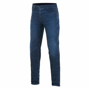 Alpinestars Copper V2 Plus Motorcycle Riding Denim Jeans Aged Worn Blue