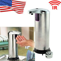 Stainless Steel Hands Free Auto IR Sensor Touchless Soap Liquid Dispenser 280ml