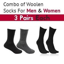 6 Woolen Socks For Men & Women (3 Pairs Each)