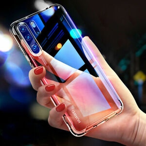 For Huawei P30 Pro Ultra Slim Air Cushion Bumper Shockproof TPU Clear Case Cover