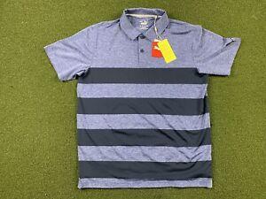 Puma Mattr Kiwi Stripe Golf Polo Shirt Mazarine Blue Mens SZ M ( 599113 12 ) NWT
