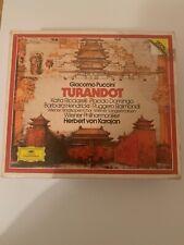 Puccini Giacomo -Karajan-Turandot DEUTSCHE GRAMMAPHON 3CD BOX EX BOOKLET DOMINGO