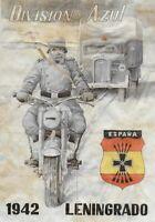WW2 RATION CURRENCY SHEET w NAZI MOTORCYCLE TROOPS/TRUCK, SWASTIKA Leningrad '42