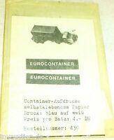 Eurocontainer Impression Smo 430 Autocollant pour Wiking Å