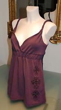 Rsb Beautiful Tunic Rock Star Baby Clothes Purple Stones Strasen cross Size M/
