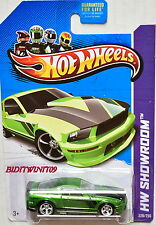 HOT WHEELS 2013 HW SHOWROOM '07 FORD MUSTANG GREEN SUPER TREASURE HUNT