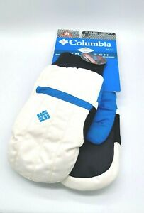NWT COLUMBIA Mittens Omni-Heat, Omni-Tech Waterproof White Size M