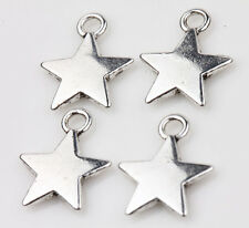 Wholesale 15Pcs Tibet Silver Star Loose Spacer Charms Pendants Making Craft Hot