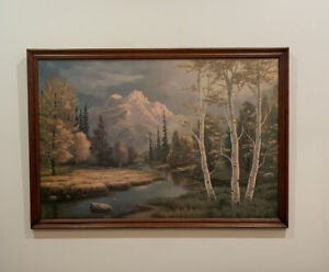 VINTAGE Mid Century Artwork 'Fall Awakens' by  Frank Kecskes Jnr CAN BE MAILED