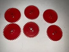 Knex Screamin Serpent Replacement Parts 6 Red Round Gears