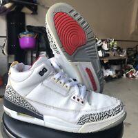 Nike Air Jordan 3 RETRO Size 9.5 White Cement 2003 136064-102 Nike Air A