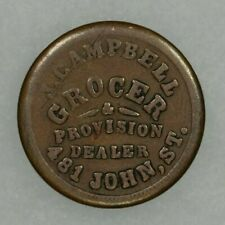 1863 Civil War Token Store Card J. Campbell Grocer Cincinnati Ohio Circulated R5