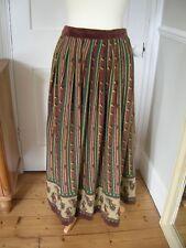 Ladies Vintage Jake Skirt Boho Festival Hippie Velvet Trim 1970's 1980's