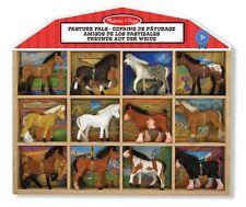 Melissa & Doug Spielfiguren Pferde Im Holzsetzkasten