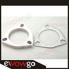 "A SET OF 2.5"" 3-BOLT Exhaust Flange and Exhaust Gasket  For 3 Bolt Flange"