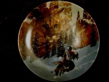 W L George Collectors Plate Faces Of Nature Indian Design Canyon Of The Cat