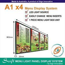A1 x4 Swift LED MENU BOARD DISPLAY SYSTEM -ILLUMINATED MENU SIGN LIGHT BOX