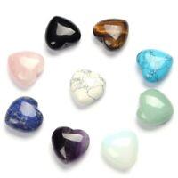 17 Kind Natural Quartz Heart Shaped Crystal Carved Palm Love Healing Reiki Stone