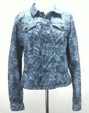 CALVIN KLEIN JEANS WOMEN'S Jacket Stretch Denim Blue SOUTHWESTERN Aztec Large L