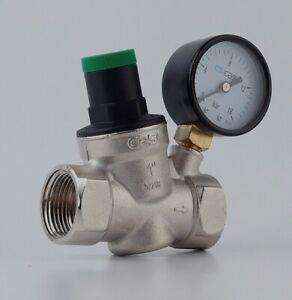 1 zoll Druckminderer mit Manometer, Wasser Druckregler, PN25 1-15 Bar CASE