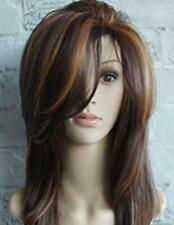 Womens Stylish Breathable Lace Front Wig Body Wavy Full Wigs Natural Ombre Blond
