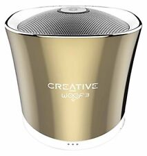 Creative Woof 3 Micro Sized High Quality Bluetooth Wireless Speaker Autumn Gold