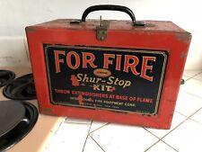 SHUR-STOP 6 PACK Glass Grenade Fire ExtinguisherAntique Fire Man Fire Fighter