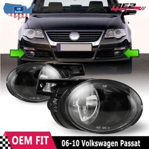 For Volkswagen Passat 06-10 Factory Bumper Replacement Fit Fog Light Clear Lens