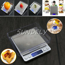 0.01-500G LCD Digital Kitchen Food Scale Electronic Balance Weight Postal Scales