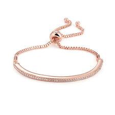 ROSE Gold regolabile SWAROVSKI ® Crystal Braccialetto Dell'Amicizia Braccialetto in confezione regalo