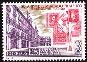 SPAIN 1977 Philately: Stamp Stock - 50 Years. Stamps on Stamps Architecture MNH