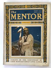 Rare Vintage Mentor Magazine March 1924 Indians of the Northwest Chief Buffalo