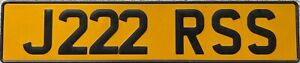 Scottish UK Pressed Reflective Rear Classic Number License Plate J222 RSS