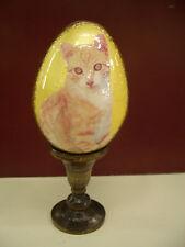 """artigianato russo uovo in legno """"Gatto"""""""