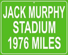 Jack Murphy Stadium San Diego Chargers and Padres custom mileage sign your house