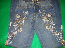 """RAMPAGE~junior's~GORGEOUS/distressed/SEQUINED/BEADED/JEANS! (24~W/33~I) """"euc"""" @@"""