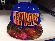 NY ESTRELLA Galaxy Visera Plana Snapback baseabll Gorra Ajustada, hip hop Real